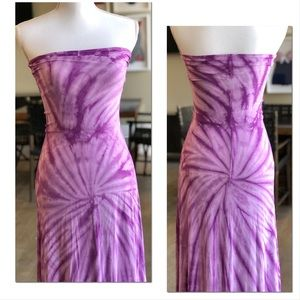 Romeo & Juliet Couture Lavender Tie Dye Maxi Dress